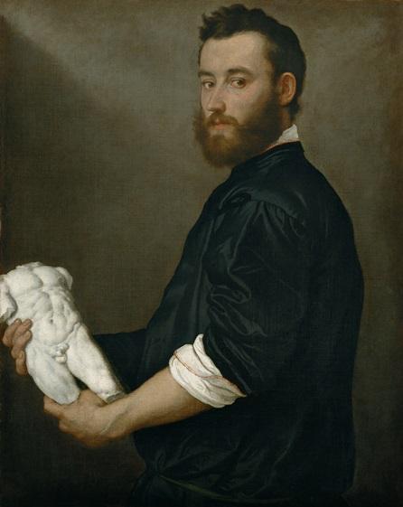 Giovanni Battista Moroni, Lo scultore Alessandro Vittoria, 1552