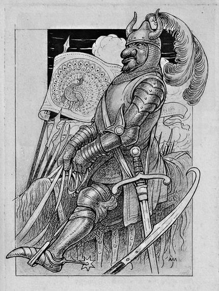Augusto Majani, Illustrazione per Tassoni, La Secchia, Formiggini 1908