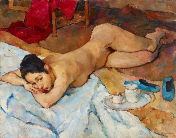 Joseph Kutter, Nu couché, 1919