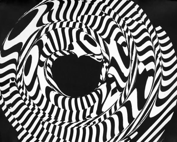 Grignani, Elaborazione ottica da disegno (induzione), stampa fotografica, anni '50