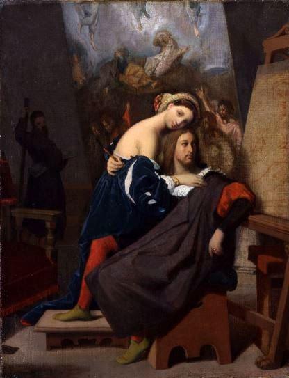 Ingres, Raffaello e la Fornarina, 1848