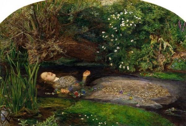John Everett Millais, Ophelia, 1851-1852