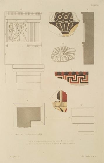 Tempio E, ante e trabeazioni