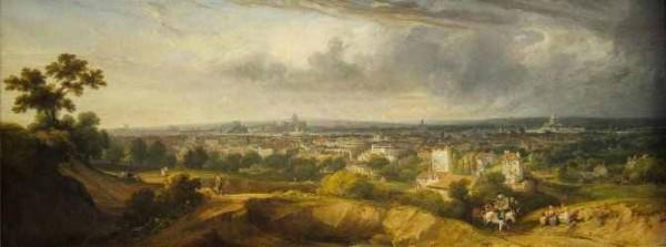 Arnald, Paris vu de Montmartre, 1822