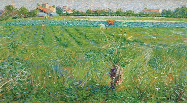 Boccioni, Paesaggio lombardo, 1908