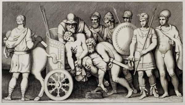 Tischbein, Nestore e il corpo di Antiloco, 1801
