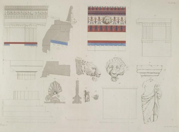 Dettagli del tempio di Ercole