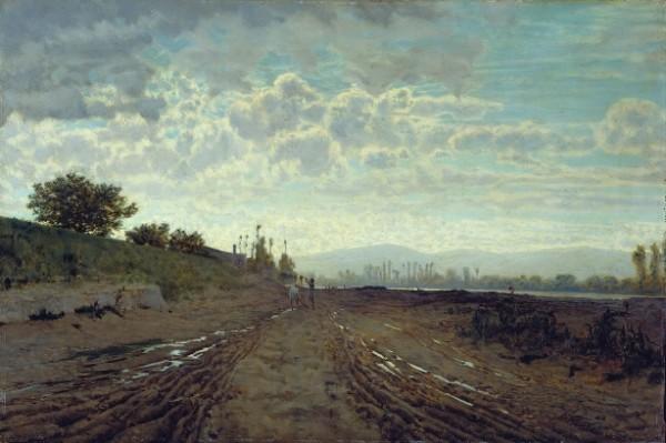 Telemaco Signorini, Una mattinata sull'Arno (Renaioli sull'Arno), 1868