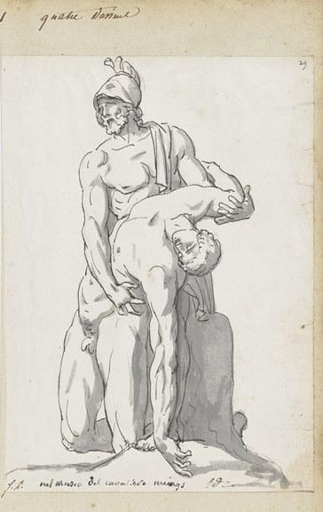 Jacques Louis David, Ménélas soutenant le corps de Patrocle