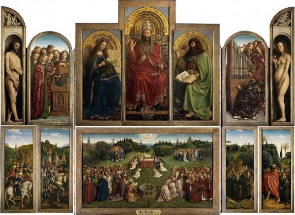 Van Eyck, Adorazione dell'Agnello mistico, 1432