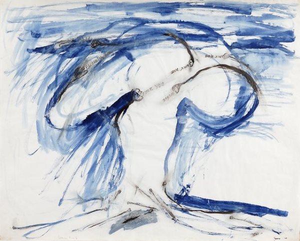 Nancy Spero, Sperm Bomb, 1966