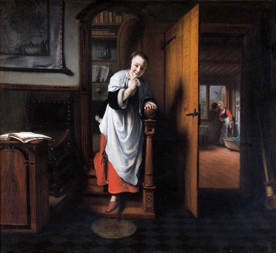 Nicolaes Maes, The Eavesdropper, 1656