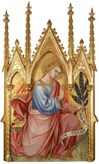 Taddeo di Bartolo, Arcangelo Gabriele, 1401, Montepulciano, Duomo
