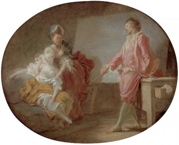 Fragonard, Les débuts du modèle, c. 1770