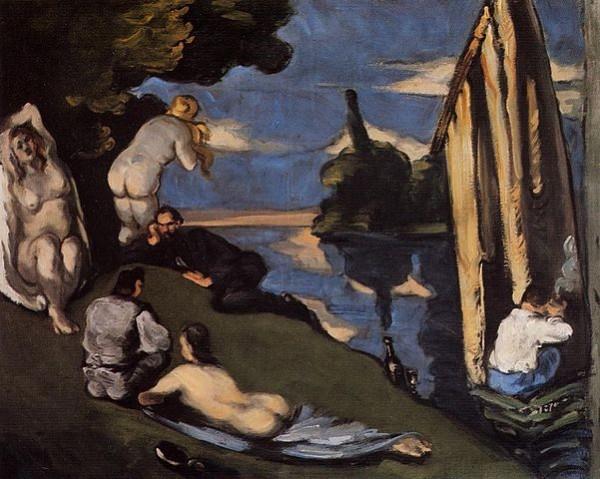 Cézanne, Pastorale, 1870