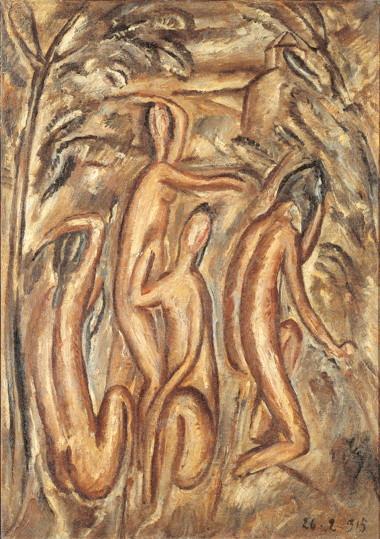 Morandi, Bagnanti, 1915