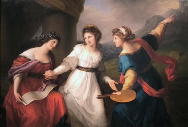 Kauffmann, Selbstbildnis am Scheideweg zwischen Musik und Malerei, 1794