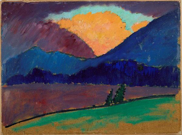 Jawlensky, Sera d'estate a Murnau, 1908-1909