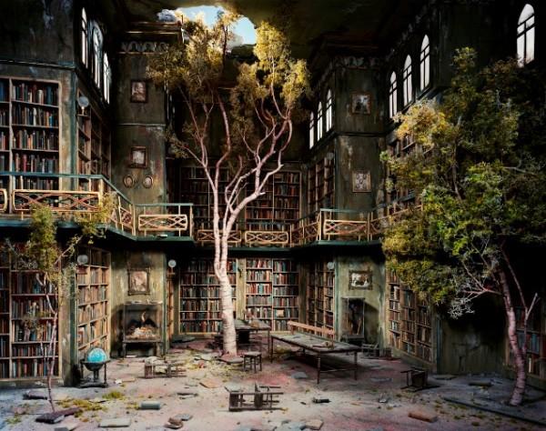 Lori Nix, Library, 2007
