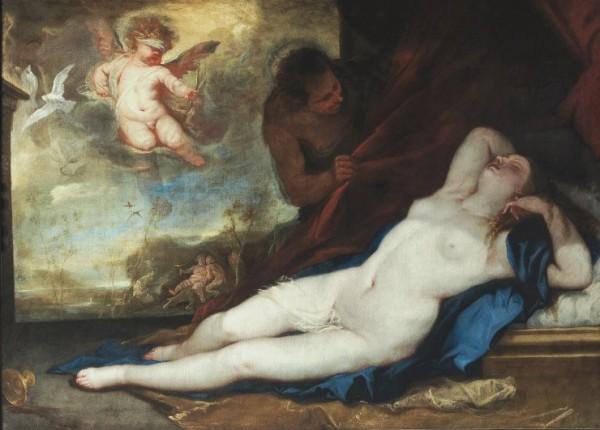 Luca Giordano, Venere amore e satiro, c. 1670