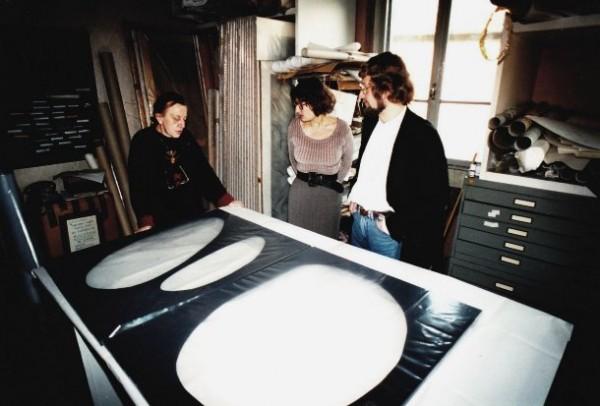 Dadamaino nella casa-studio di via Bitonto a Milano, 1995