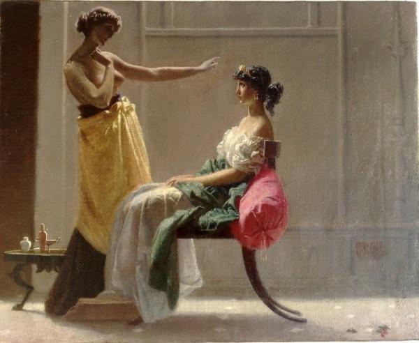 Federico Faruffini, Toeletta antica, 1865