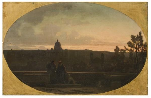 Federico Faruffini, Veduta di Roma, 1866-1867